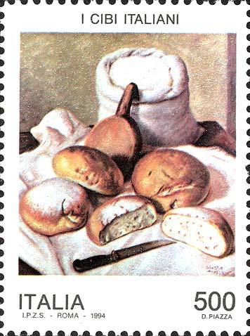 Francobollo dedicato al pane, dalla collezione privata dell'Ingegner Sergio De Benedictis