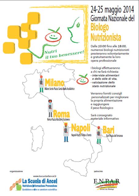 24-25 maggio 2014 —Giornata Nazionale del Biologo Nutrizionista