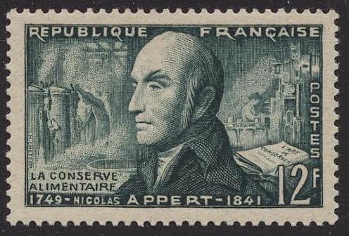 Francobollo dedicato a Nicolas Appert
