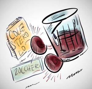 Diabete di tipo 2: piacere e beneficio di un bicchiere di vino rosso